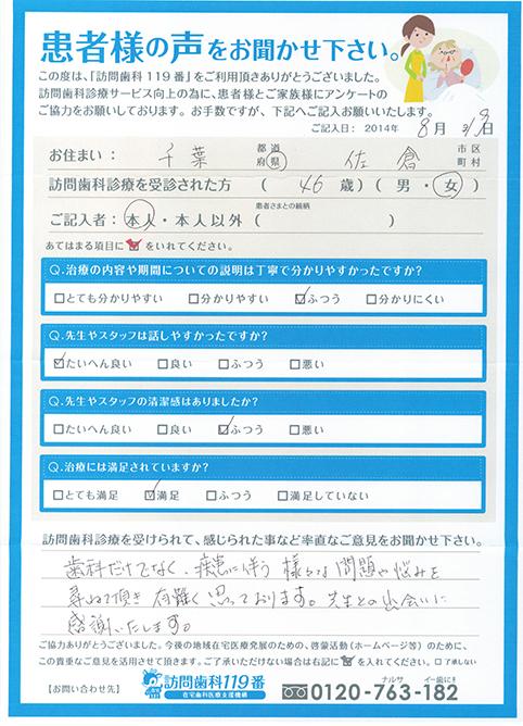 千葉県在住 46歳 女性
