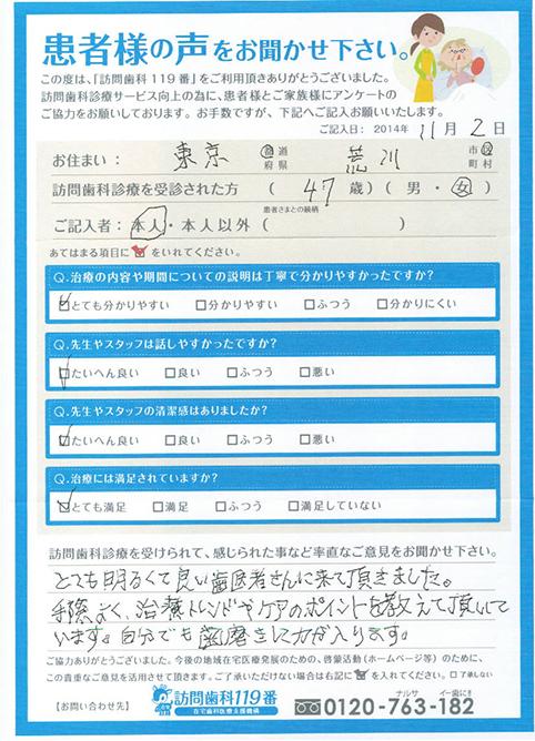 東京都在住 47歳 女性