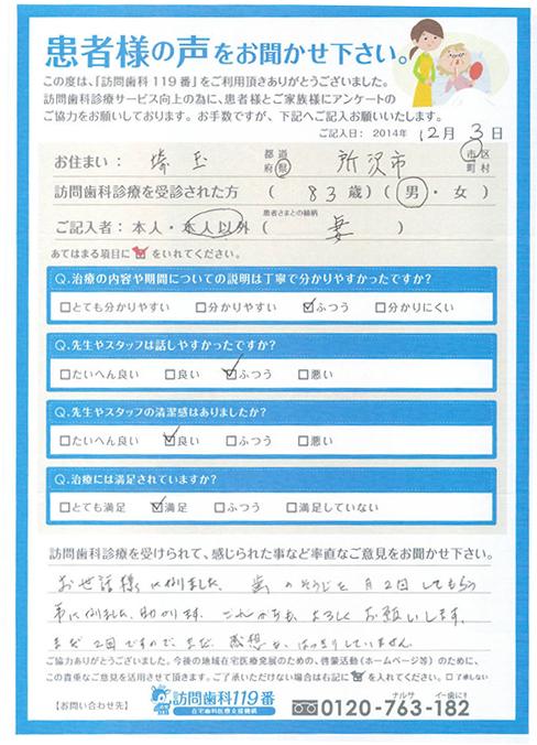 埼玉県在住 83歳 男性
