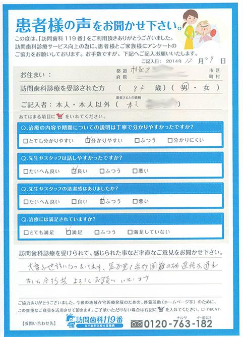 東京都在住 84歳 男性